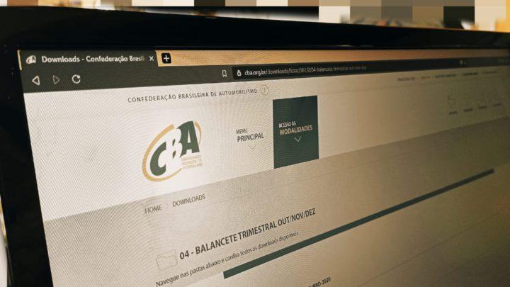 Confederação Brasileira de Automobilismo divulga balancete financeiro do quarto trimestre de 2020